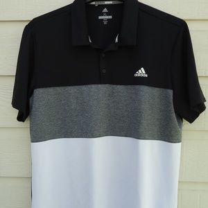SIZE XL.ADIDAS Polyester Short Sleeve Polo Shirt .